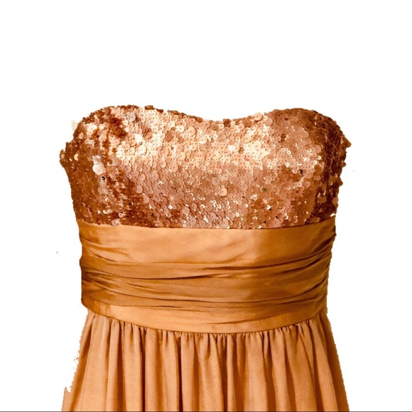 Kay Unger Dresses & Skirts - 🥂 Kay Unger Peach Gold Evening Gown - AS IS